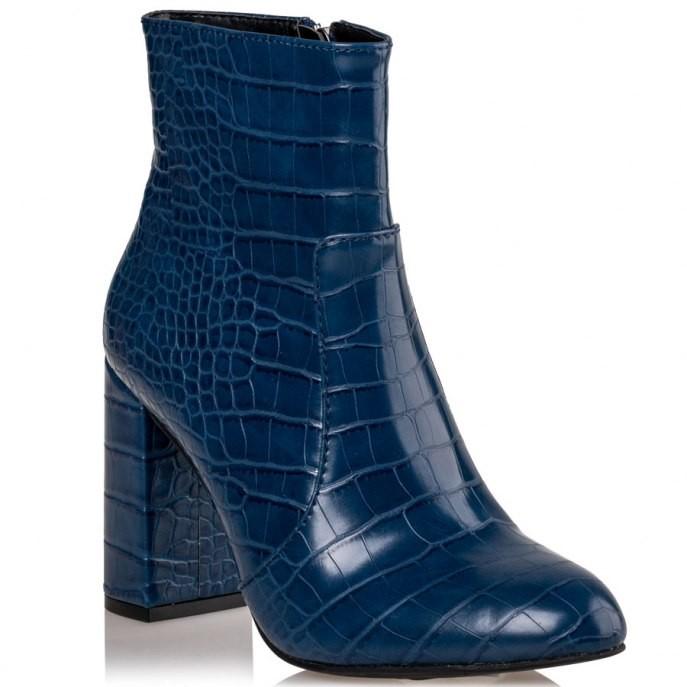 Mairiboo by Envie Shoes Γυναικεία Mποτάκια M15-10800-38 Μπλέ CROCODILIANS
