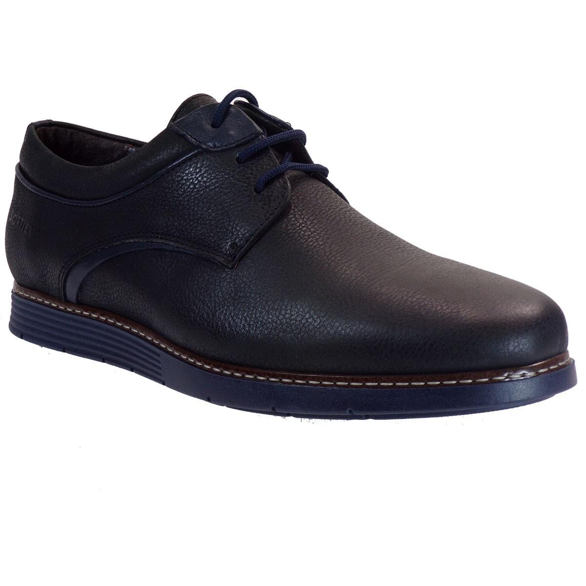 Softies Ανδρικά Παπούτσια 6993 Μαύρο Δέρμα