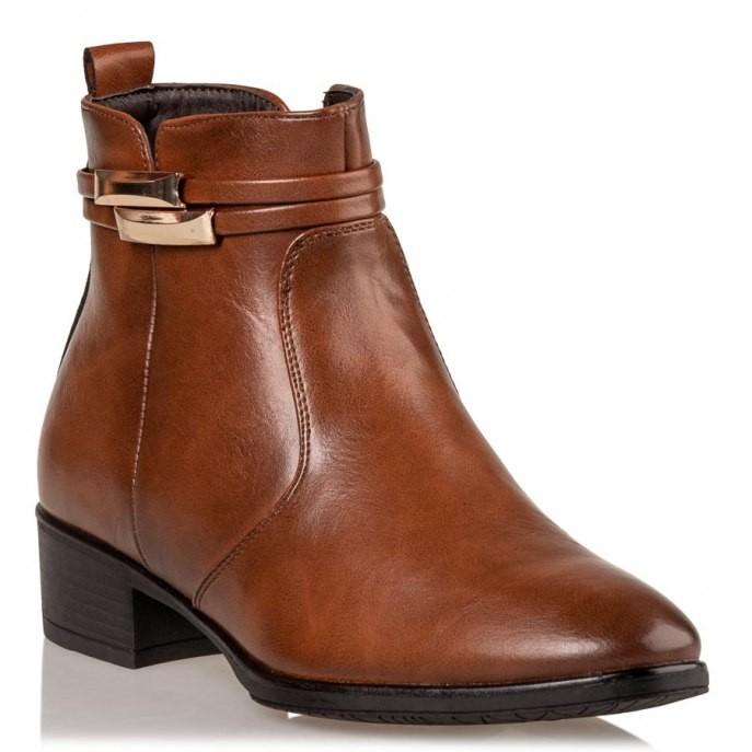 Miss NV Γυναικεία Παπούτσια Μποτάκια V63-10941-26 Κάμελ