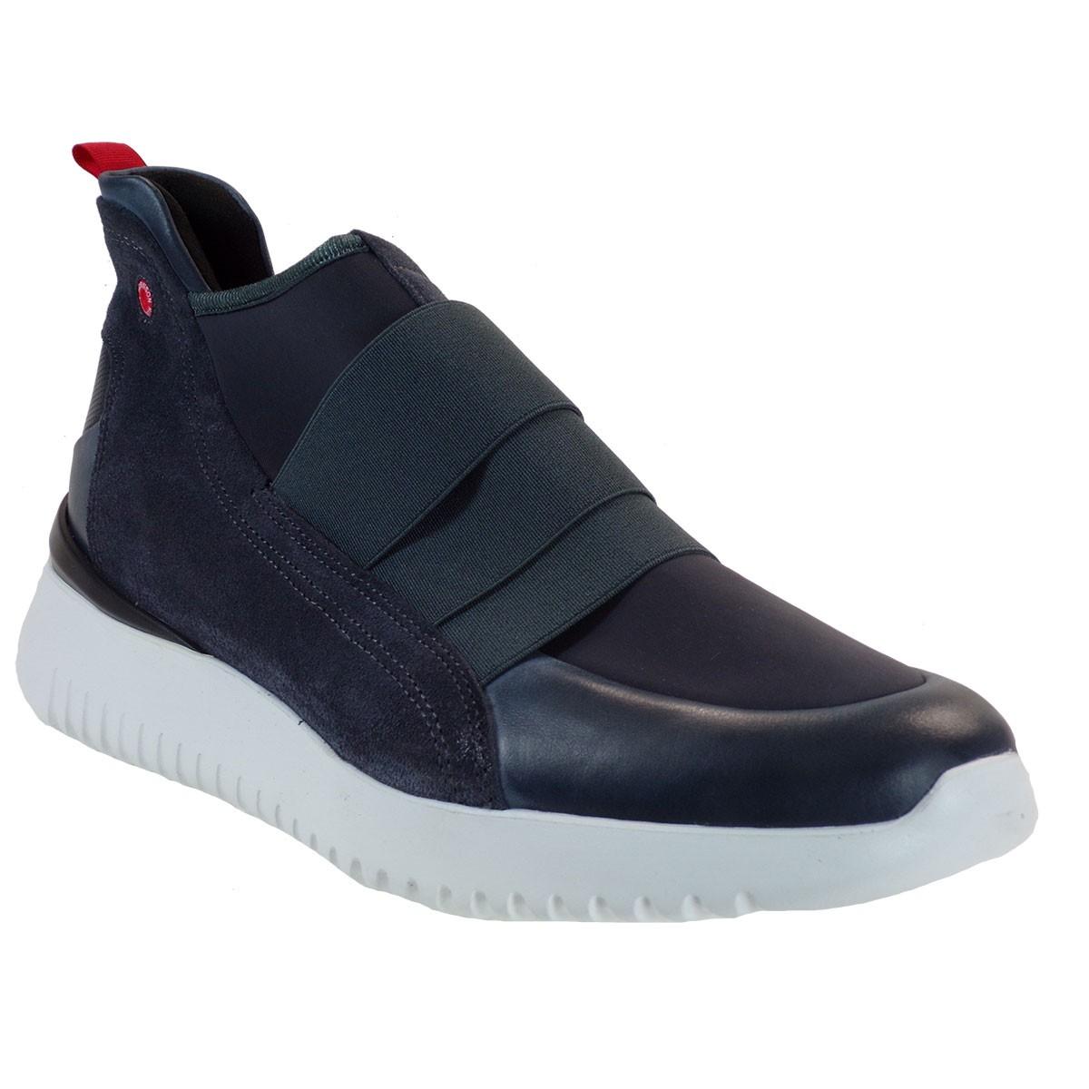 Robinson Ανδρικά Παπούτσια Sneakers 2221 Γκρί Δέρμα