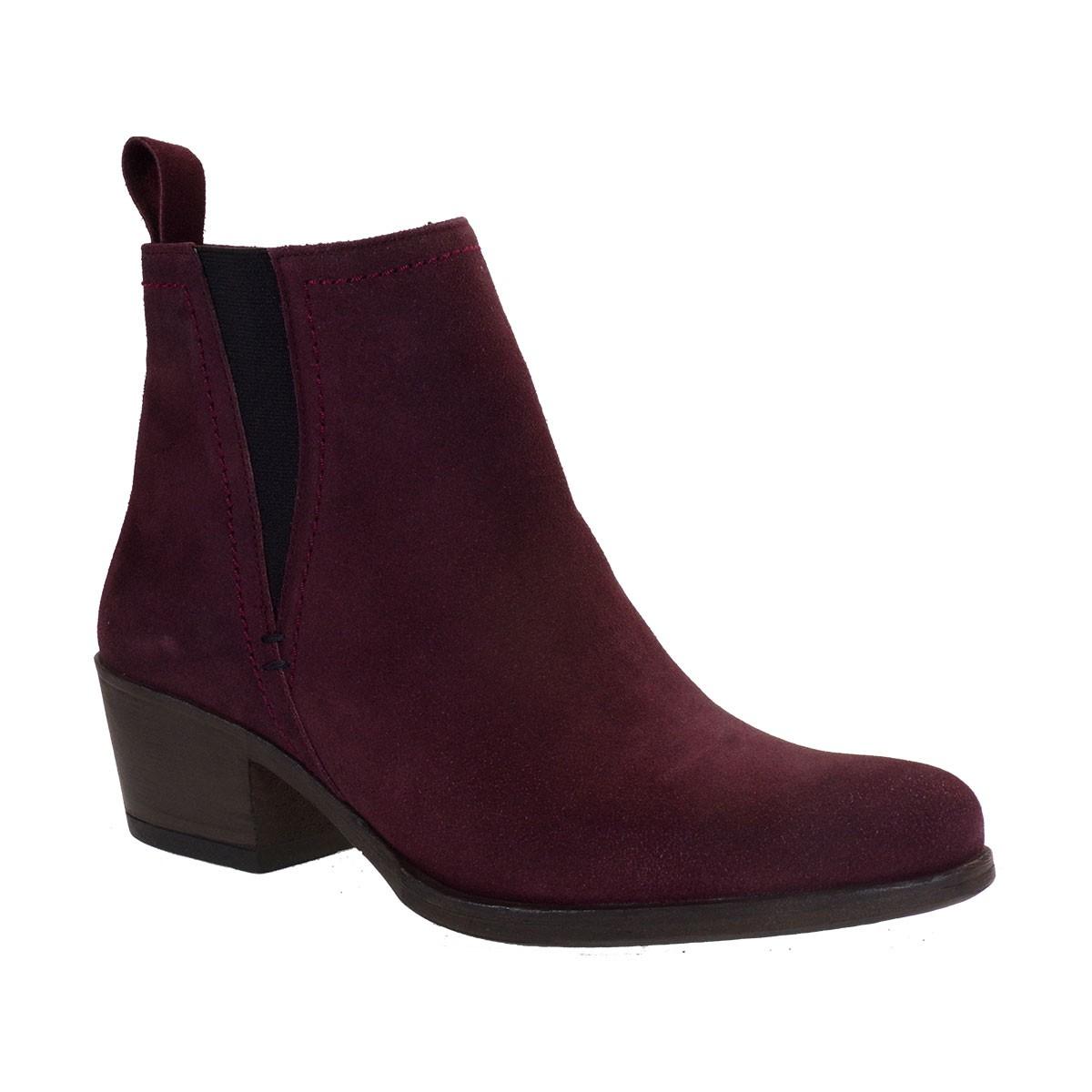 Commanchero Γυναικεία Παπούτσια Μποτάκια COW BOY 5569-425 Μπορντώ Καστόρι Δέρμα