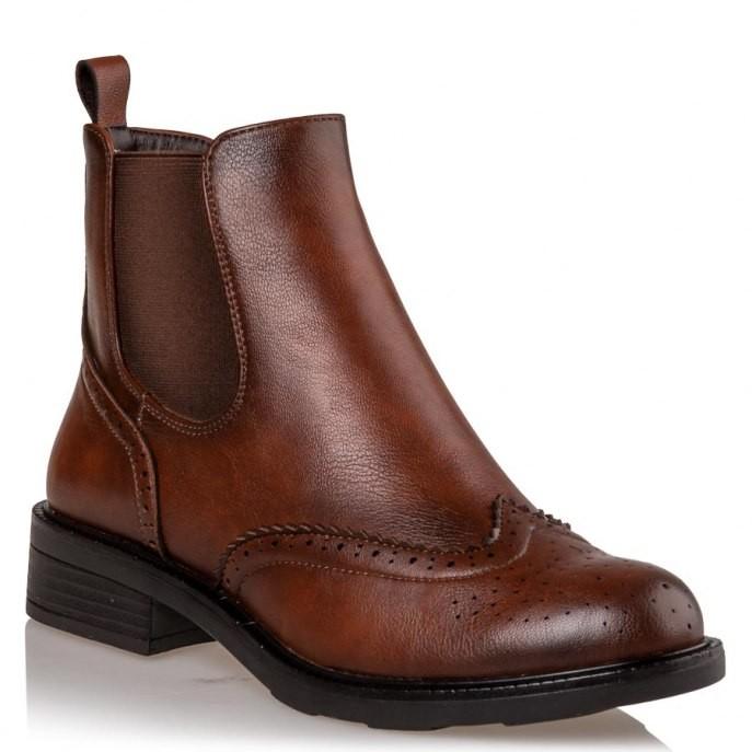 Miss NV Γυναικεία Παπούτσια Μποτάκια OXFORD V63-10948-26 Ταμπά