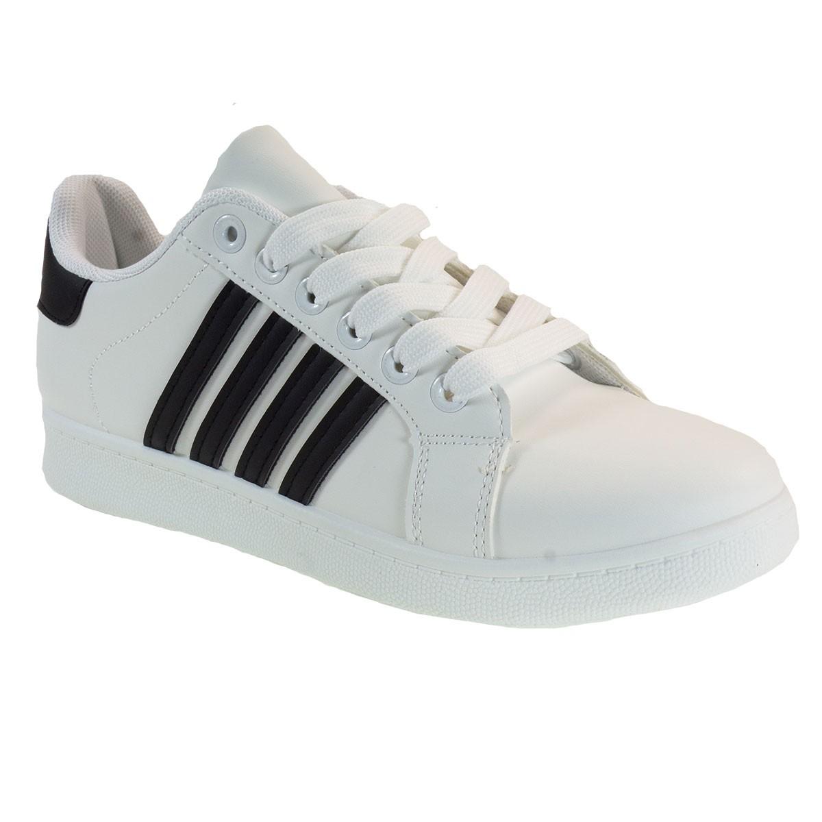 Bagiota Shoes Γυναικεία Παπούτσια Sneakers Αθλητικά MG105 Λευκό-Μαύρο