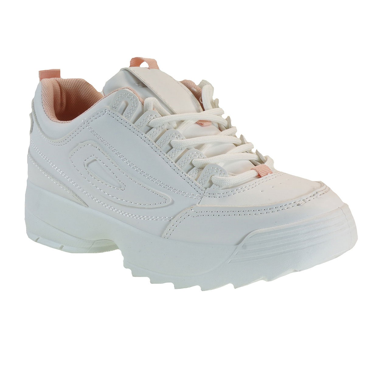 Bagiota Shoes Γυναικεία Παπούτσια Sneakers Αθλητικά Β180 Λευκό-Ρόζ
