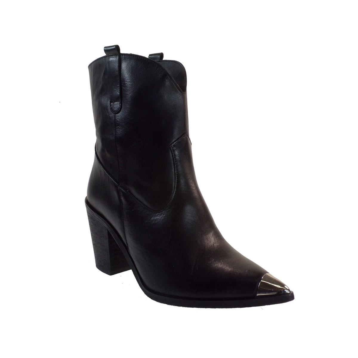 Katia Shoes (Anneto) Γυναικεία Παπούτσια Γόβες Κ122-7090 Mαύρο Δέρμα