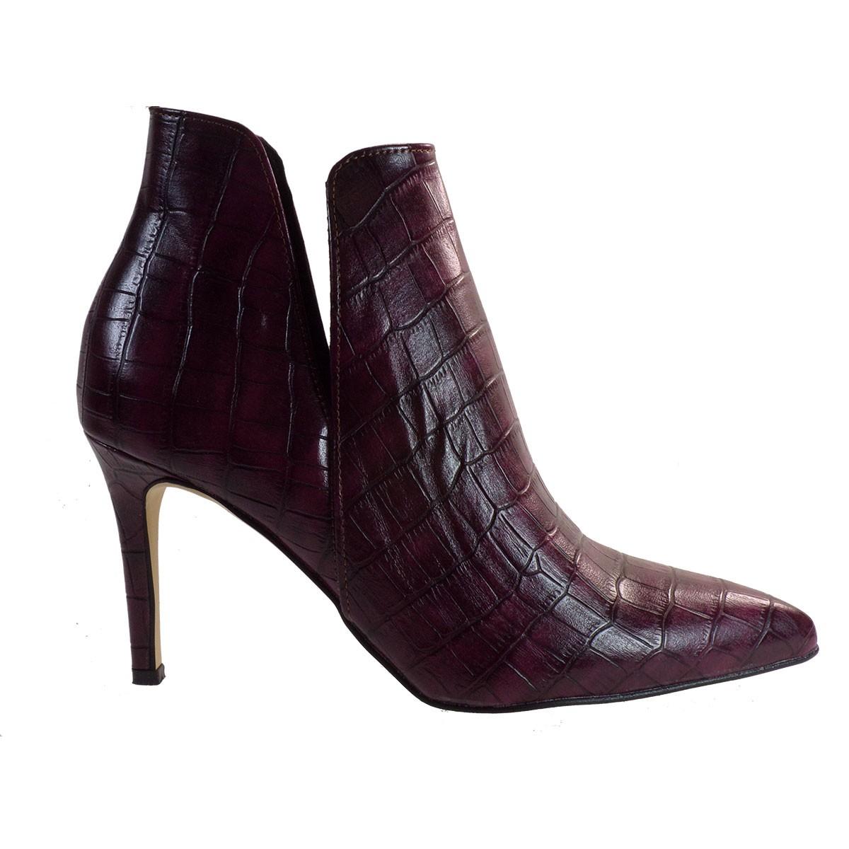 Alessandra Paggioti Γυναικεία Παπούτσια Μποτάκια 81640 Μώβ