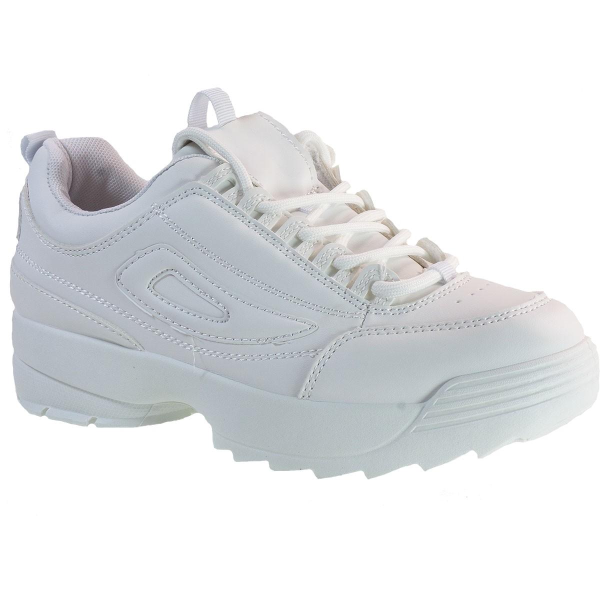 Bagiota Shoes Γυναικεία Παπούτσια Sneakers Αθλητικά C8385 Λευκό
