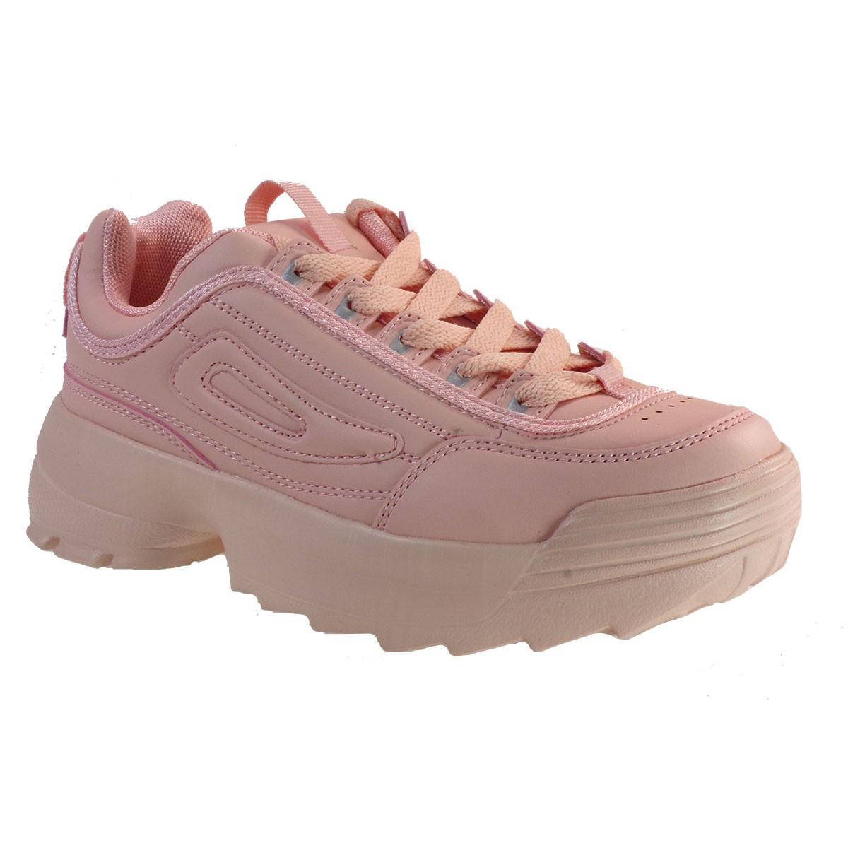 Bagiota Shoes Γυναικεία Παπούτσια Sneakers Αθλητικά 011-3 Ρόζ