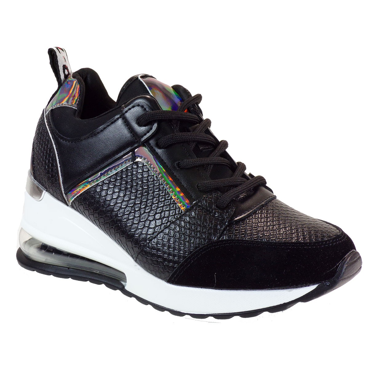 Bagiota Shoes Γυναικεία Παπούτσια Sneakers Αθλητικά Β0-245 Μαύρο
