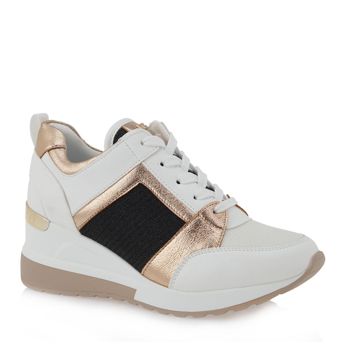Renato Garini Γυναικεία Παπούτσια Sneakers 012-EX2131 Λευκό-Μπρονζέ-Μαύρο K119R012384K