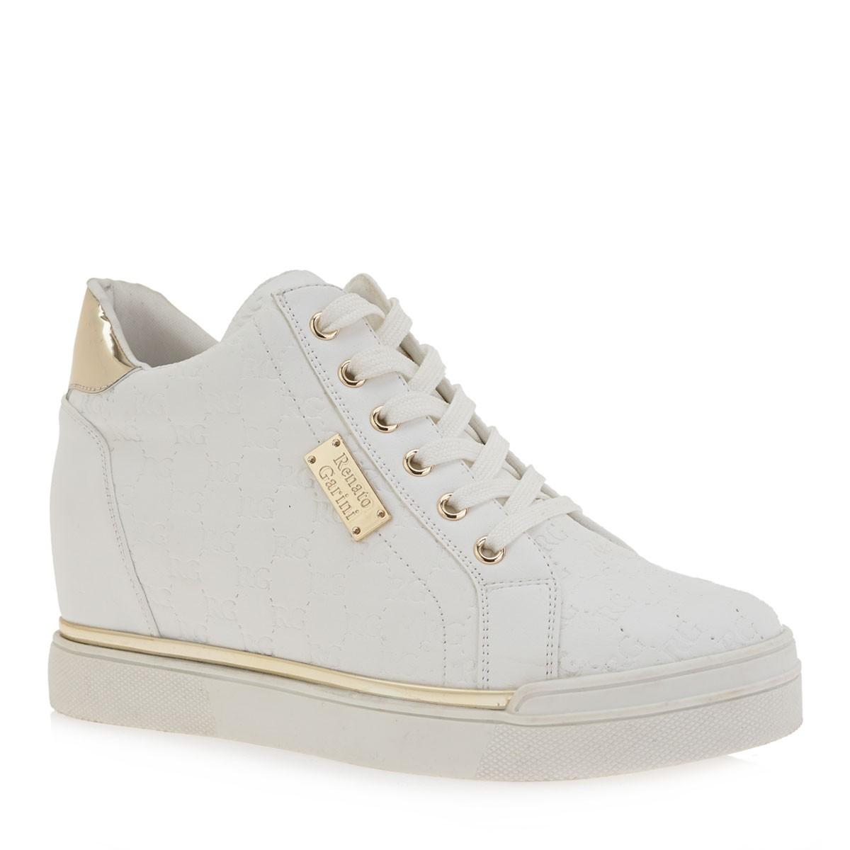 Renato Garini Γυναικεία Παπούτσια Sneakers 122-EX2122 Λευκό-Χρυσό K119R1223948