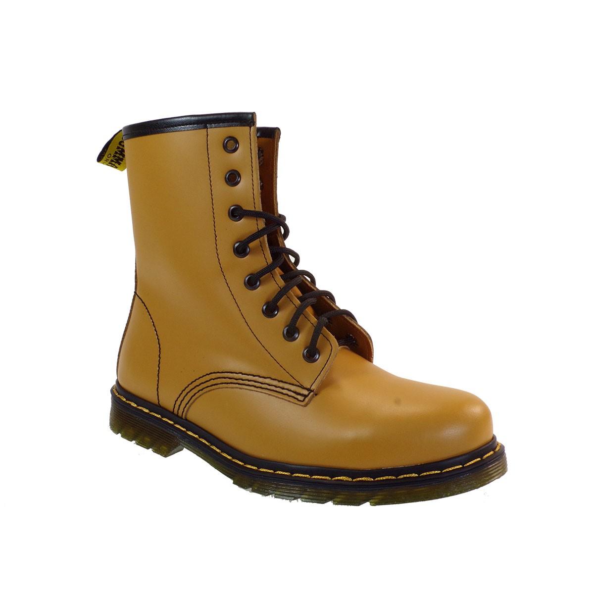 Commanchero Γυναικεία Παπούτσια Μποτάκια Αρβυλάκια 515 Κίτρινο Δέρμα