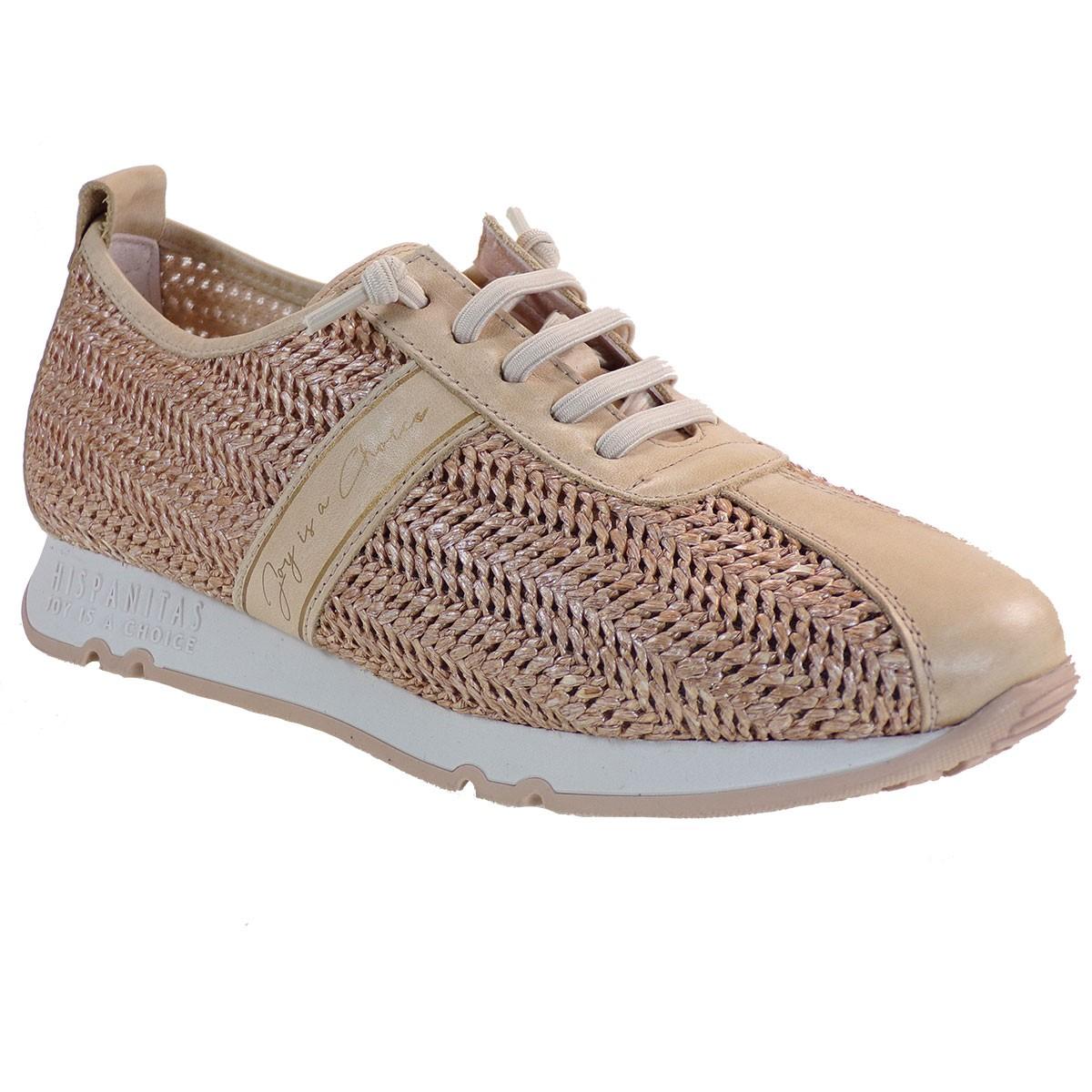 Hispanitas Γυναικεία Casual Sneakers HV00017 Μπέζ Δέρμα