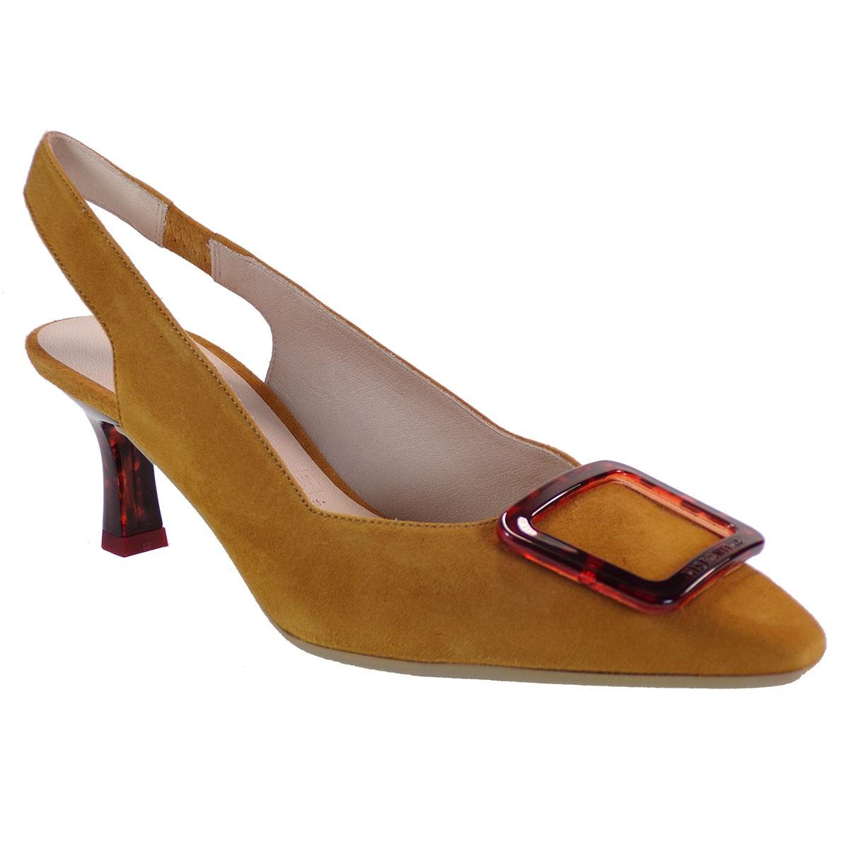 Hispanitas Γυναικεία Παπούτσια Mule Γόβες YHV09928 Ταμπά Δέρμα PARIS