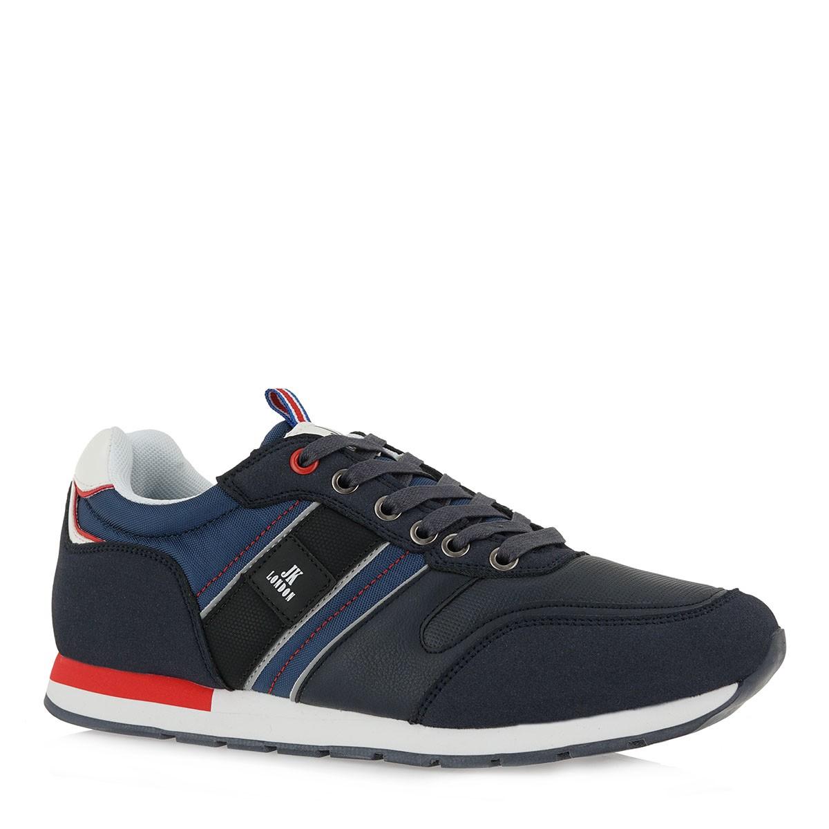 JK LONDON Ανδρικά παπούτσια Sneakers 044-905044Α Μπλέ Καστόρι K585X0441A50
