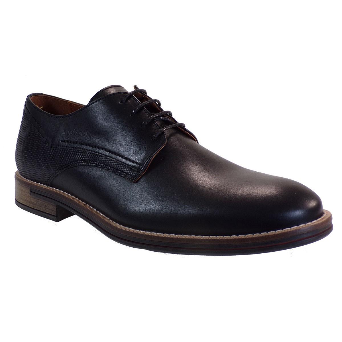Robinson Ανδρικά Παπούτσια 2042 Μαύρο Δέρμα