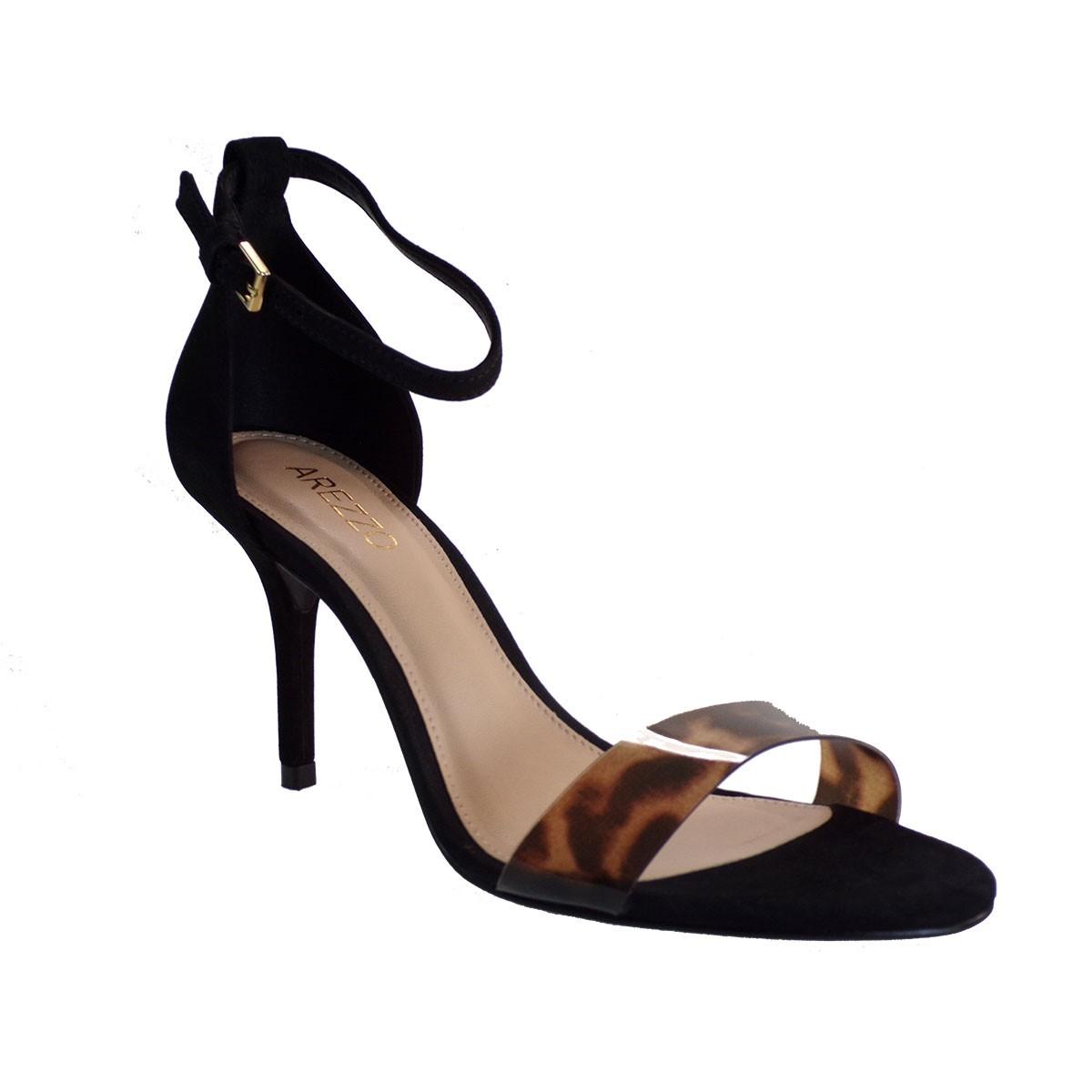 Arezzo SANDALIA Salto Medio Γυναικεία Παπούτσια Πέδιλα Α02695-0579 Μαύρο
