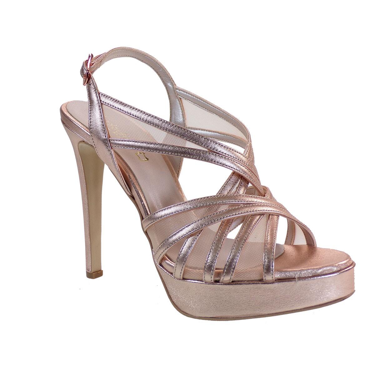 Fardoulis shoes Γυναικεία Παπούτσια Πέδιλα 3044Λ Χαλκός Δέρμα