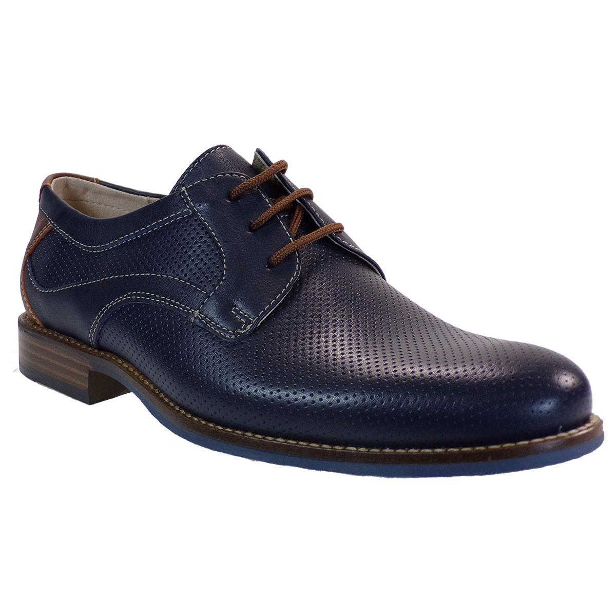 Softies Ανδρικά Παπούτσια 6998 Μπλέ Δέρμα