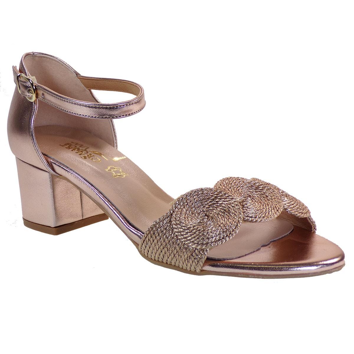 Smart Cronos Γυναικεία Παπούτσια Πέδιλα 7112-3511 Χαλκός