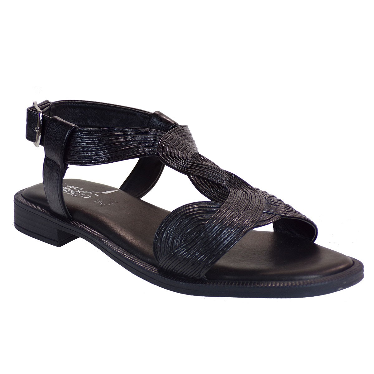 Smart Cronos Γυναικεία Παπούτσια Πέδιλα 7110-1085 Μαύρο Μπαμπού