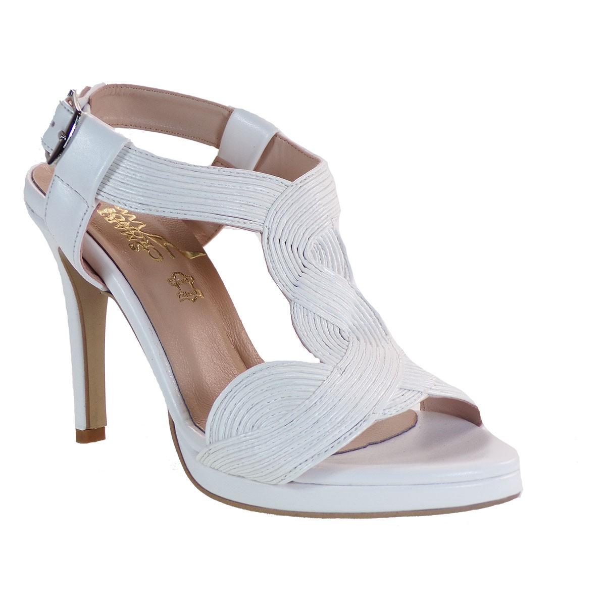 Smart Cronos Γυναικεία Παπούτσια Πέδιλα 7110-3493 Λευκό Μπαμπού