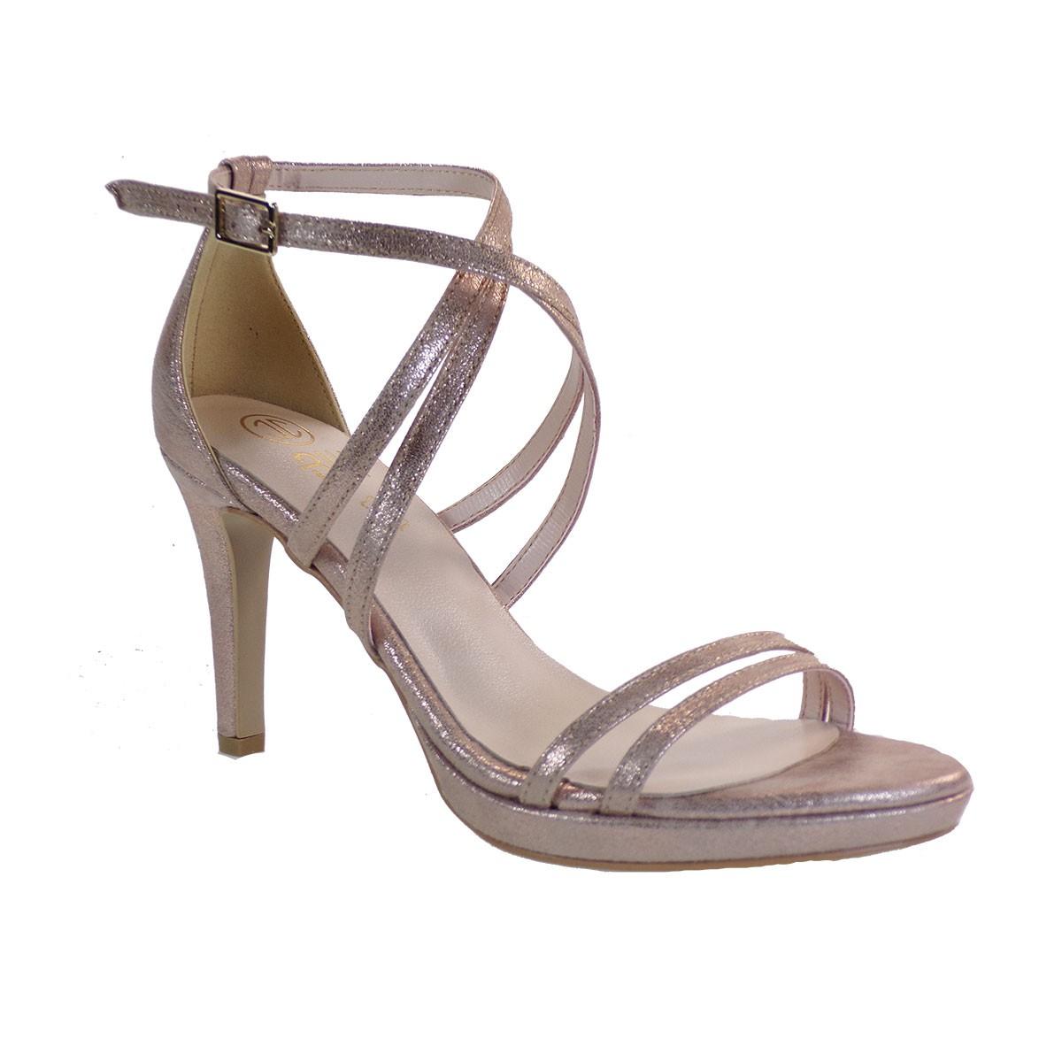 Katia Shoes Γυναικεία Παπούτσια Πέδιλα A16-4967 Χαλκός Χιονέ