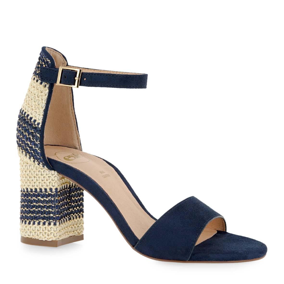 EXE Shoes Πέδιλα Γυναικεία ADELLE-622 Μπλέ Καστόρι K47006224054