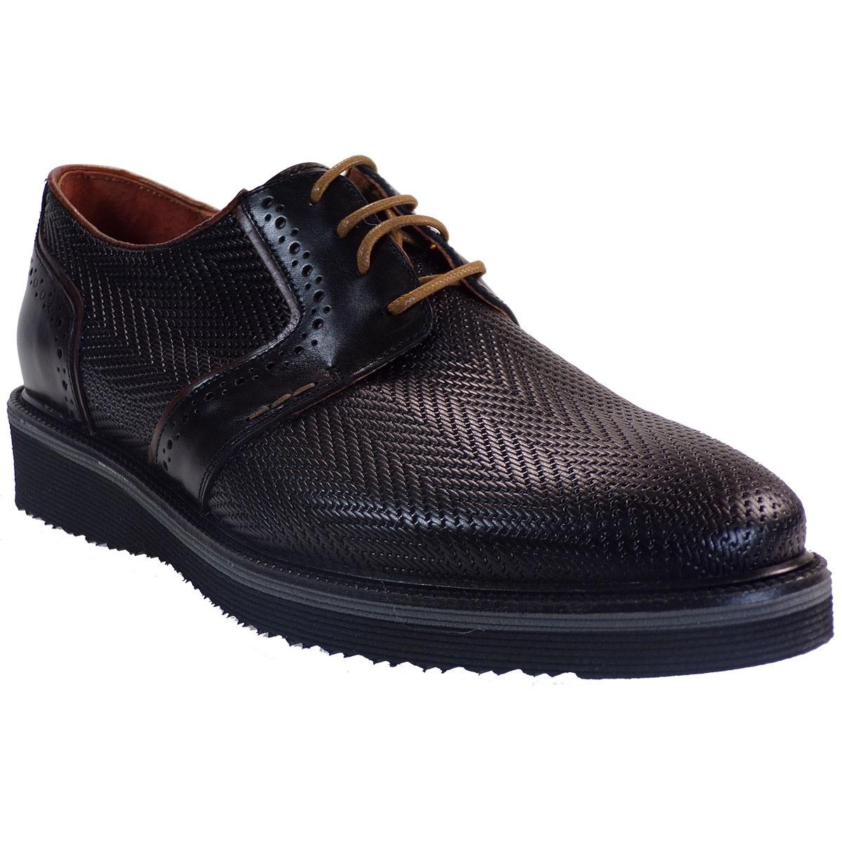 kricket Ανδρικά Παπούτσια 220 Μαύρο Δέρμα