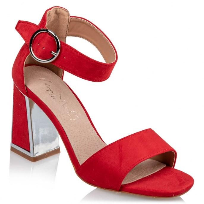 MISS NV Γυναικεία Πέδιλα V37-11405-30 Κόκκινο Καστόρι