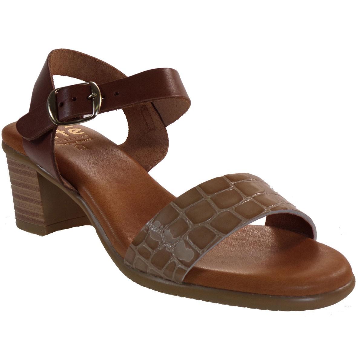 ette Shoes Γυναικεία Πέδιλα Δερμάτινα 660-GINA Μπεζ