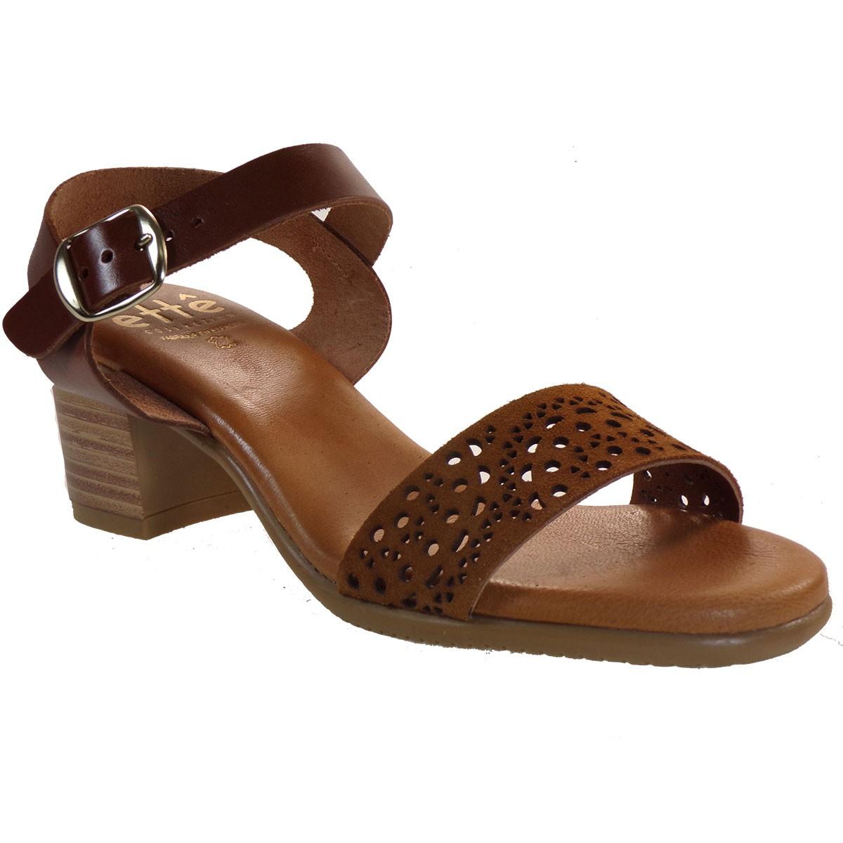 ette Shoes Γυναικεία Πέδιλα Δερμάτινα 661-GRACE Ταμπά