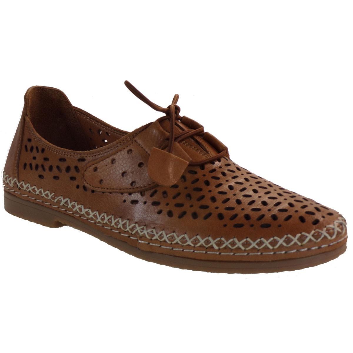 Road Shoes Γυναικεία Παπούτσια Εσπαντρίγιες 17215-207 Ταμπά Δέρμα