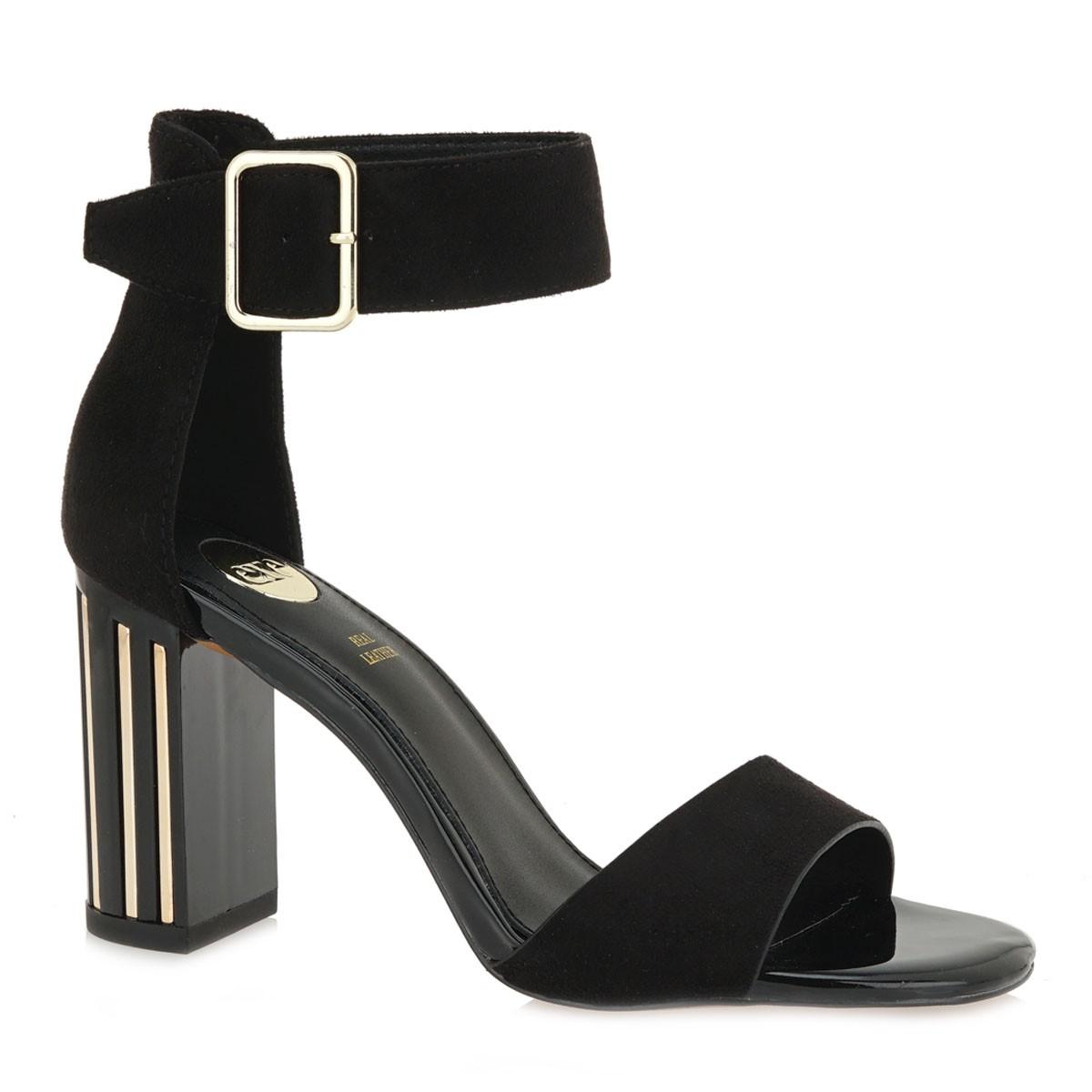 EXE Shoes Πέδιλα Γυναικεία 335-TEREZA Μαύρο Καστόρι K4700355004