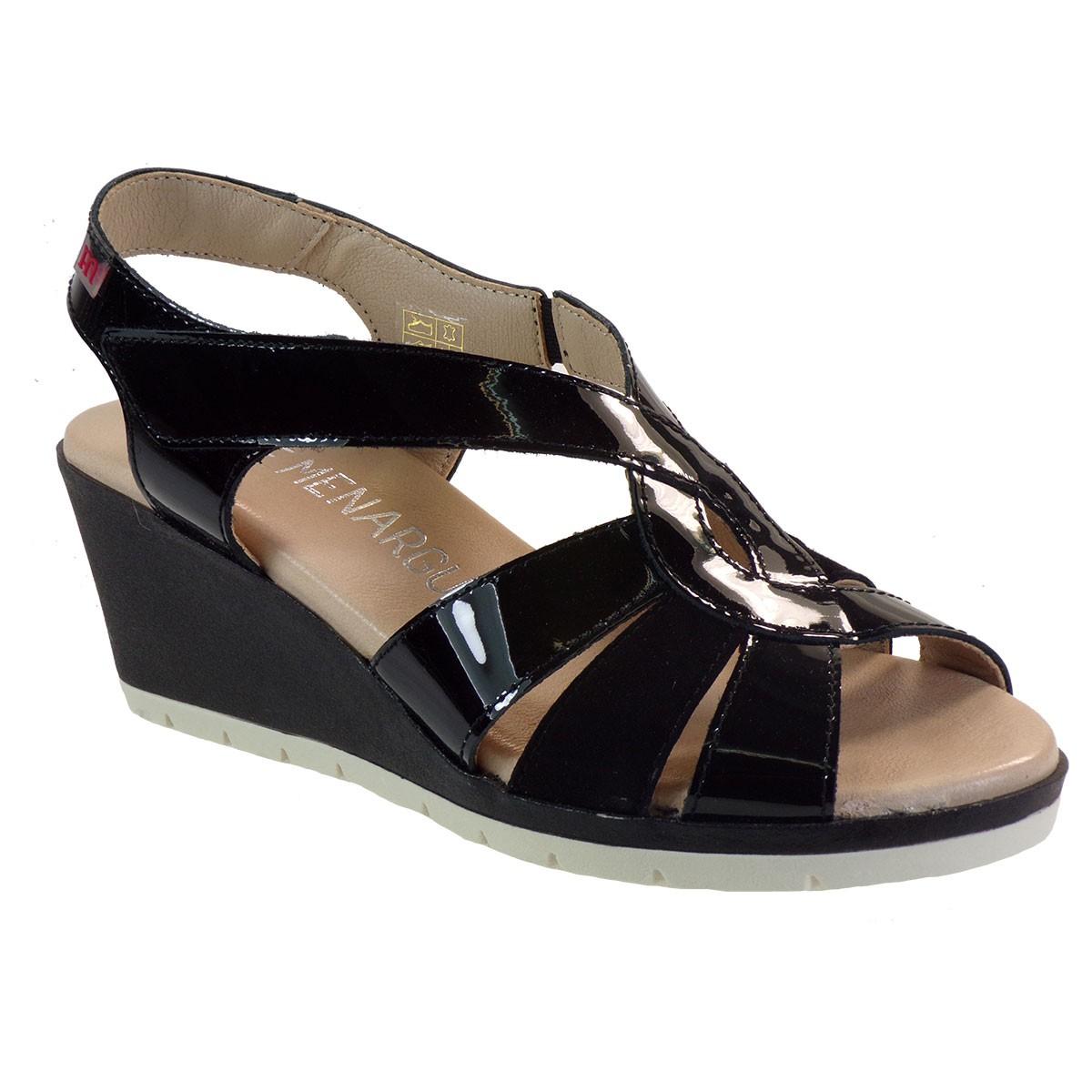 PEPE MENARGUES SHOES Γυναικεία Παπούτσια Πέδιλα 3077 Μαύρο Δέρμα