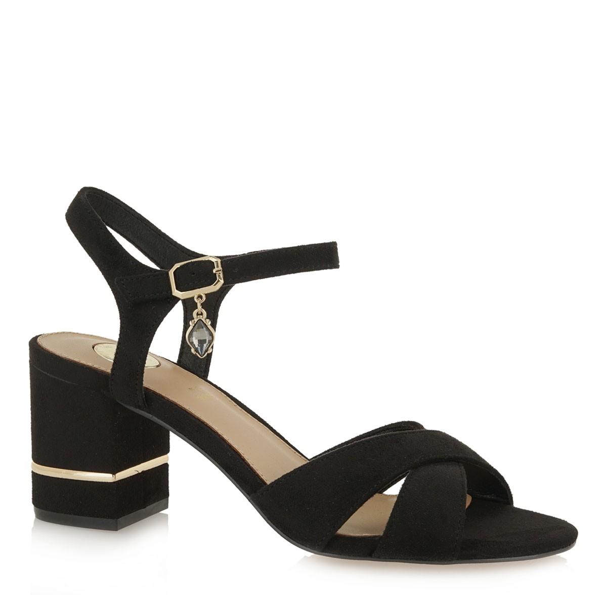 EXE Shoes Πέδιλα Γυναικεία PENNY-225 Μαύρο Καστόρι K47002254004