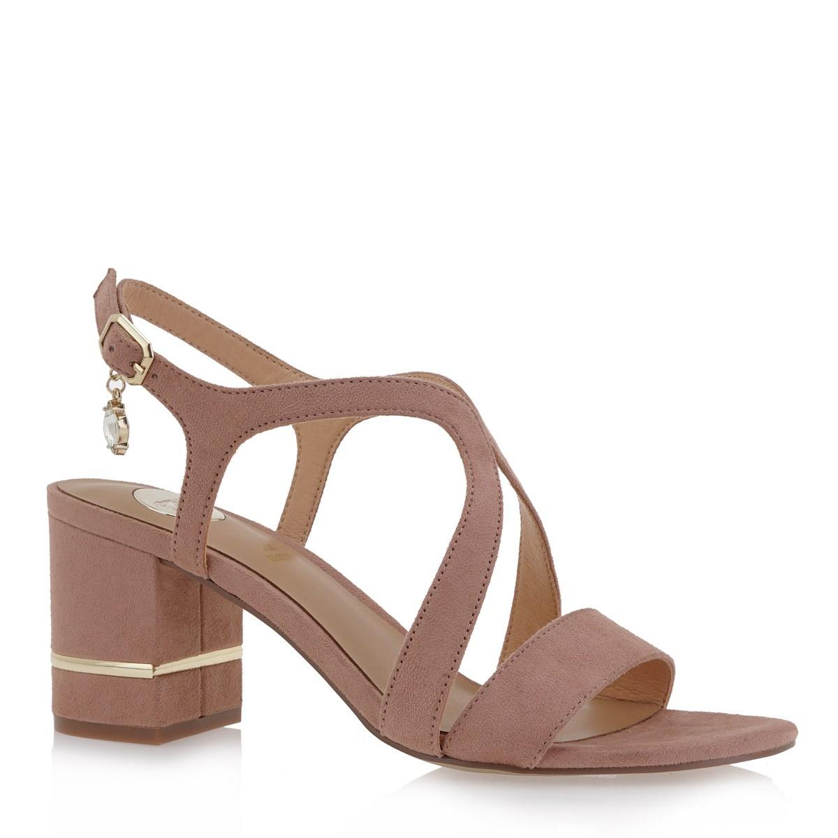 EXE Shoes Πέδιλα Γυναικεία 674-PENNY-672 Nude Καστόρι K4700674471D