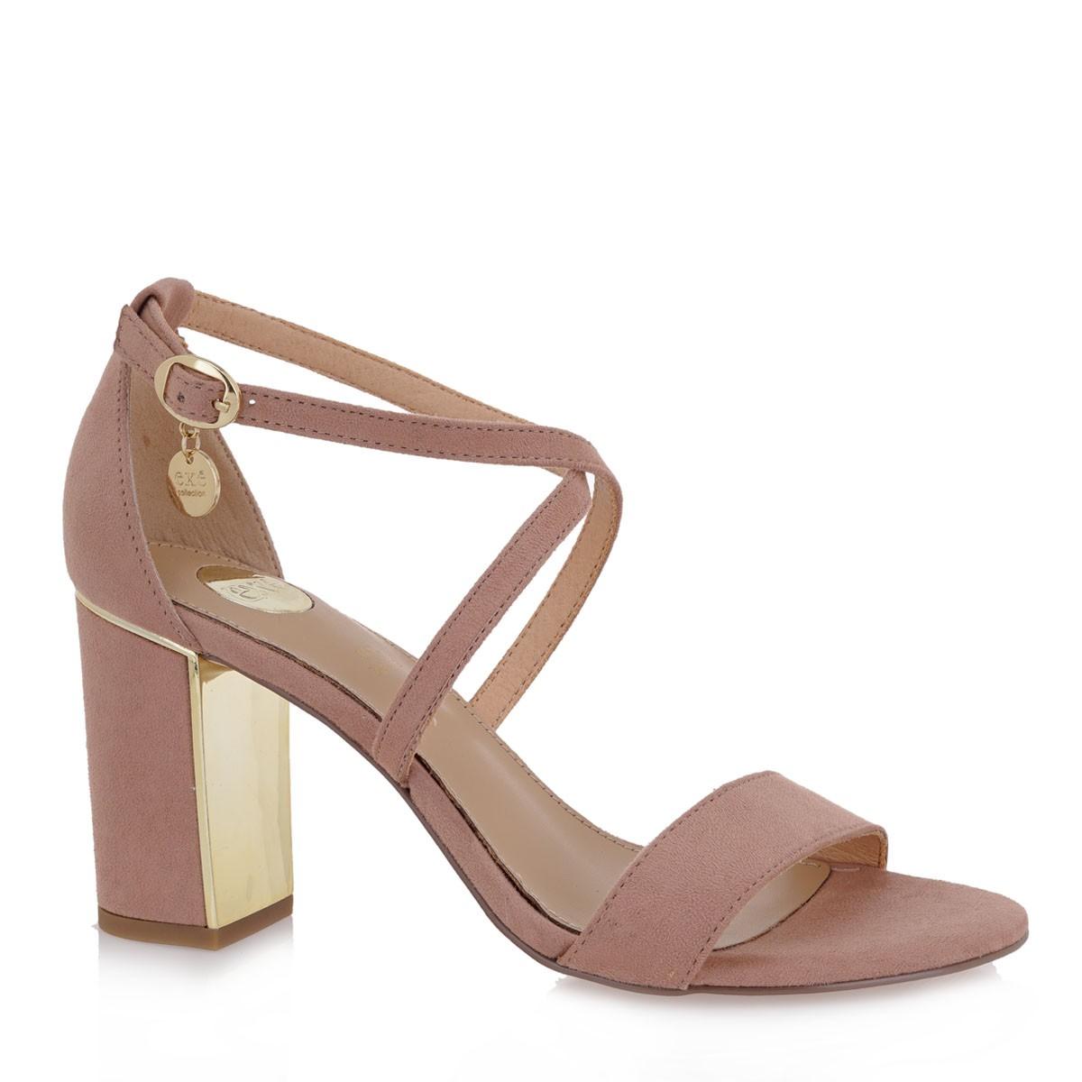 EXE Shoes Πέδιλα Γυναικεία ROMINA-903 Nude Καστόρι K4700903471D