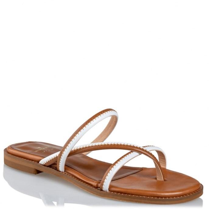 Mairiboo by Envie Shoes Γυναικεία Πέδιλα M03-11801-26 Κάμελ SEAM