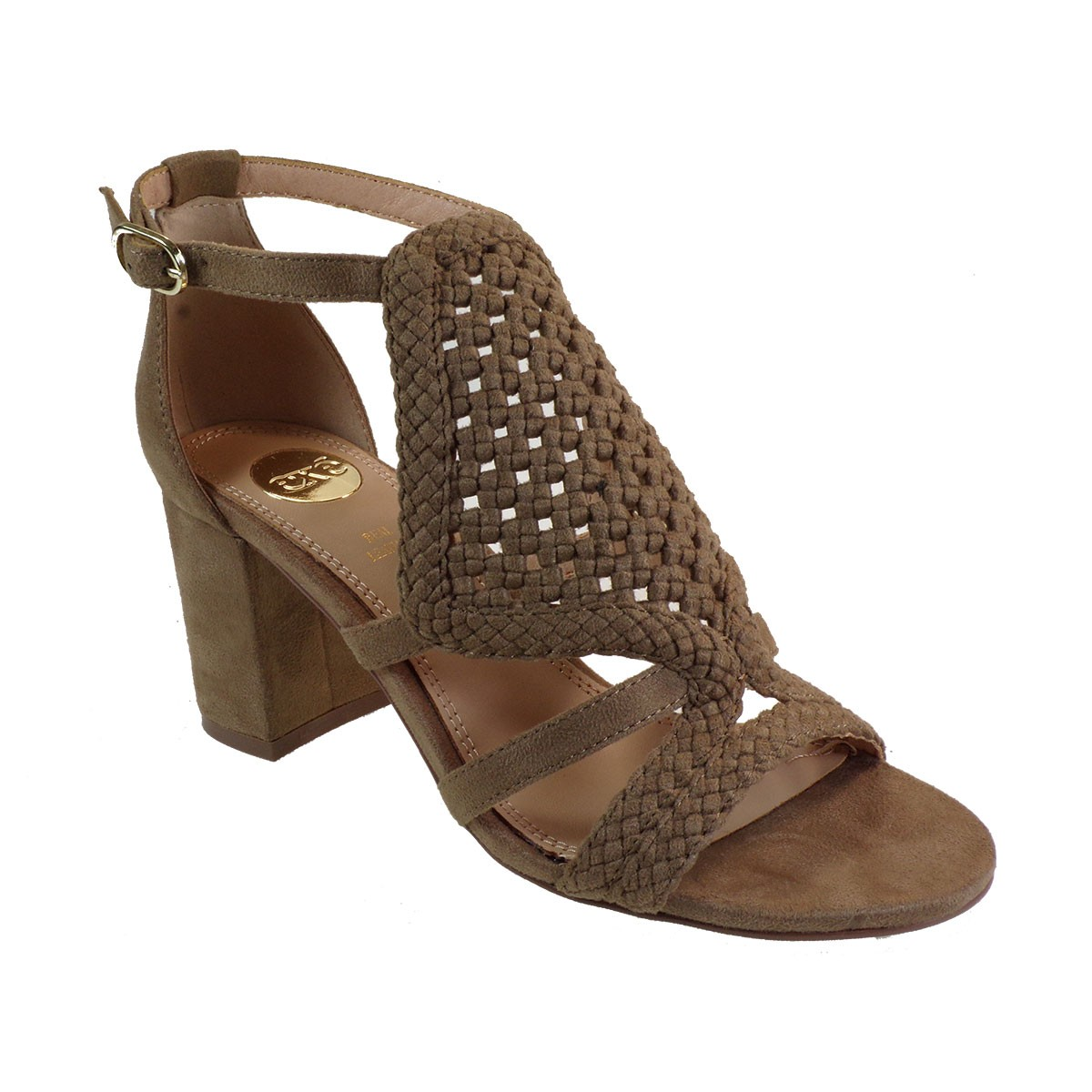 EXE Shoes Πέδιλα Γυναικεία ADELE-655 Πούρο Καστόρι K47006554541