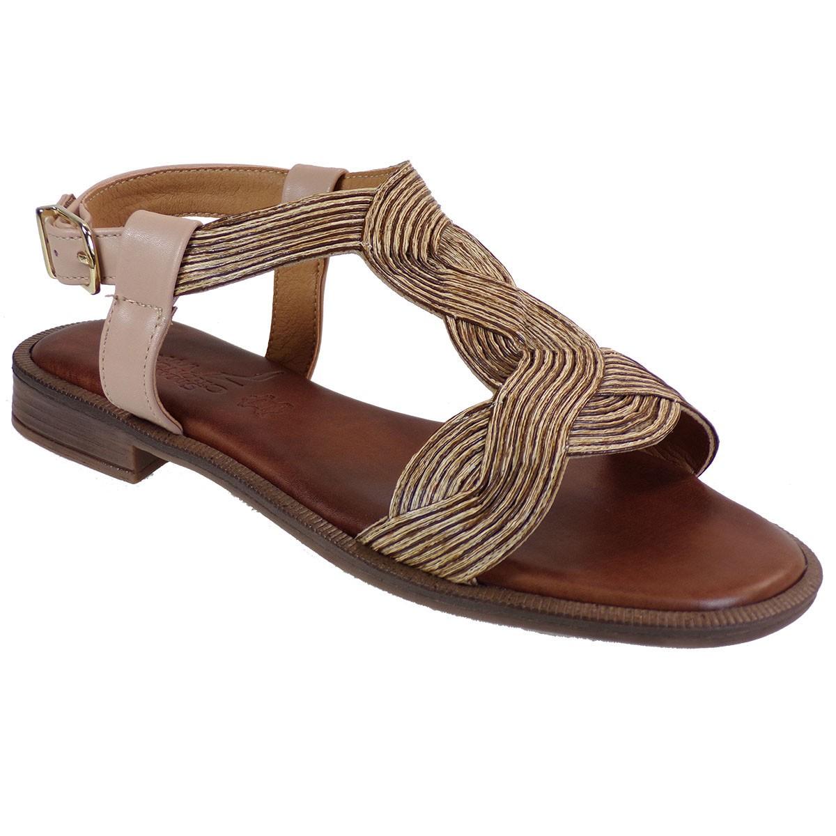 Smart Cronos Γυναικεία Παπούτσια Πέδιλα 7110-1085 Μόκα Μπαμπού