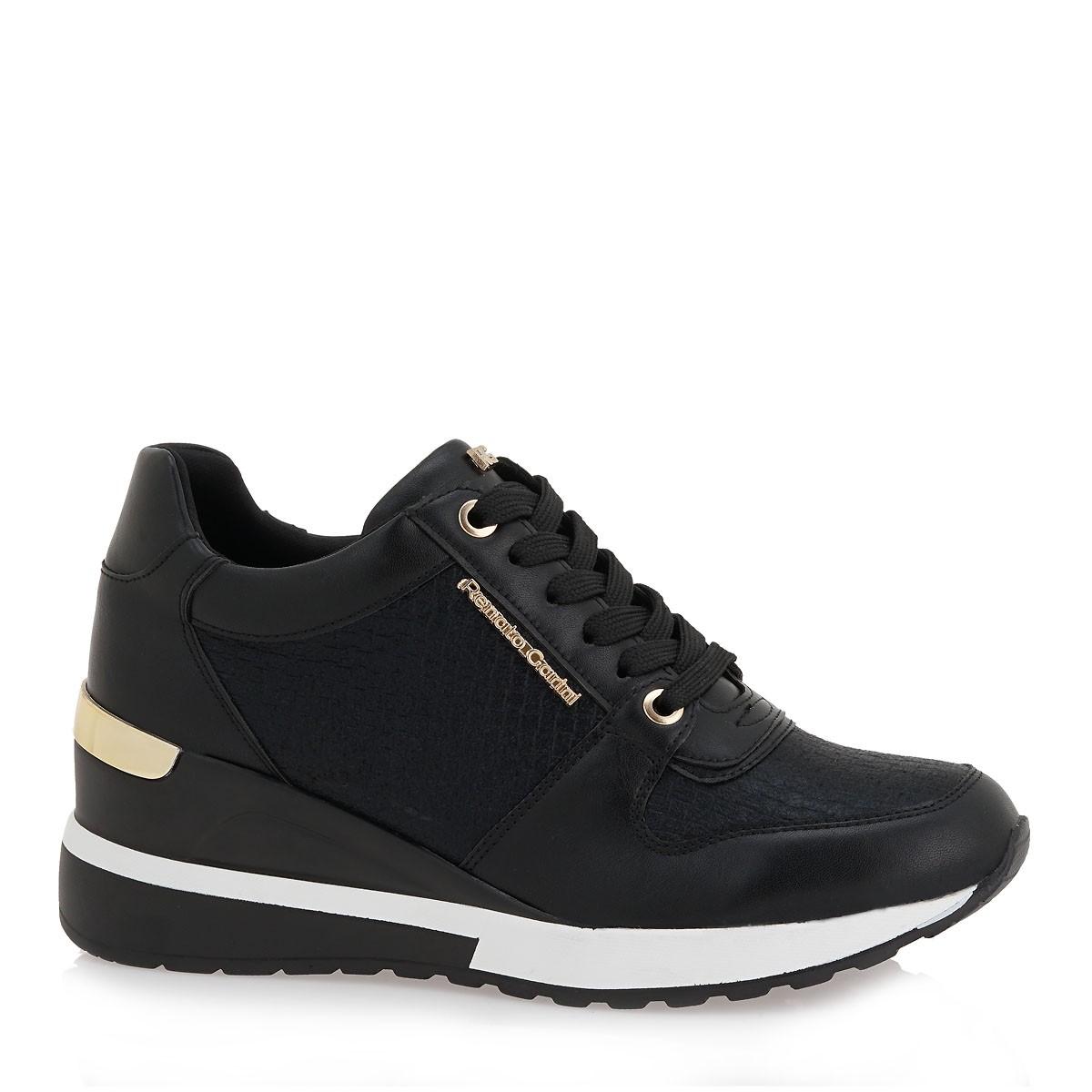 Renato Garini Γυναικεία Παπούτσια Sneakers 251-RG2251 Μαύρο Πλεκτό L119R251350L