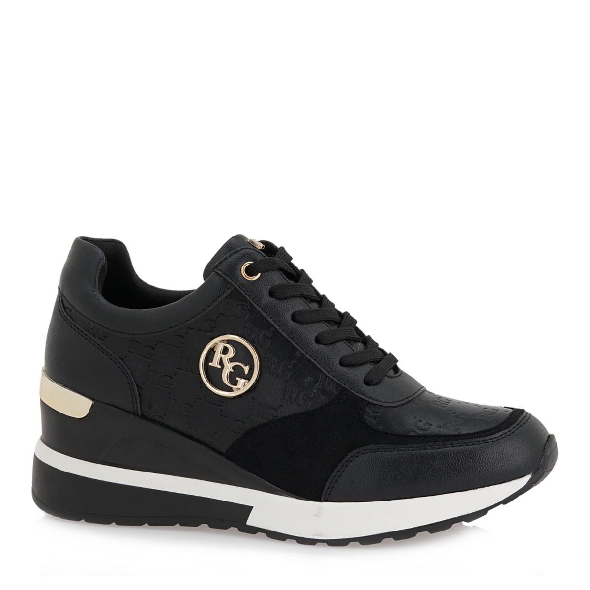 Renato Garini Γυναικεία Παπούτσια Sneakers 929-EX9929 Μαύρο Στάμπα L119R9293S41