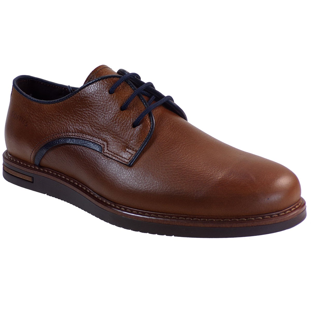 Softies Ανδρικά Παπούτσια Ανατομικά 6971 Ταμπά Δέρμα