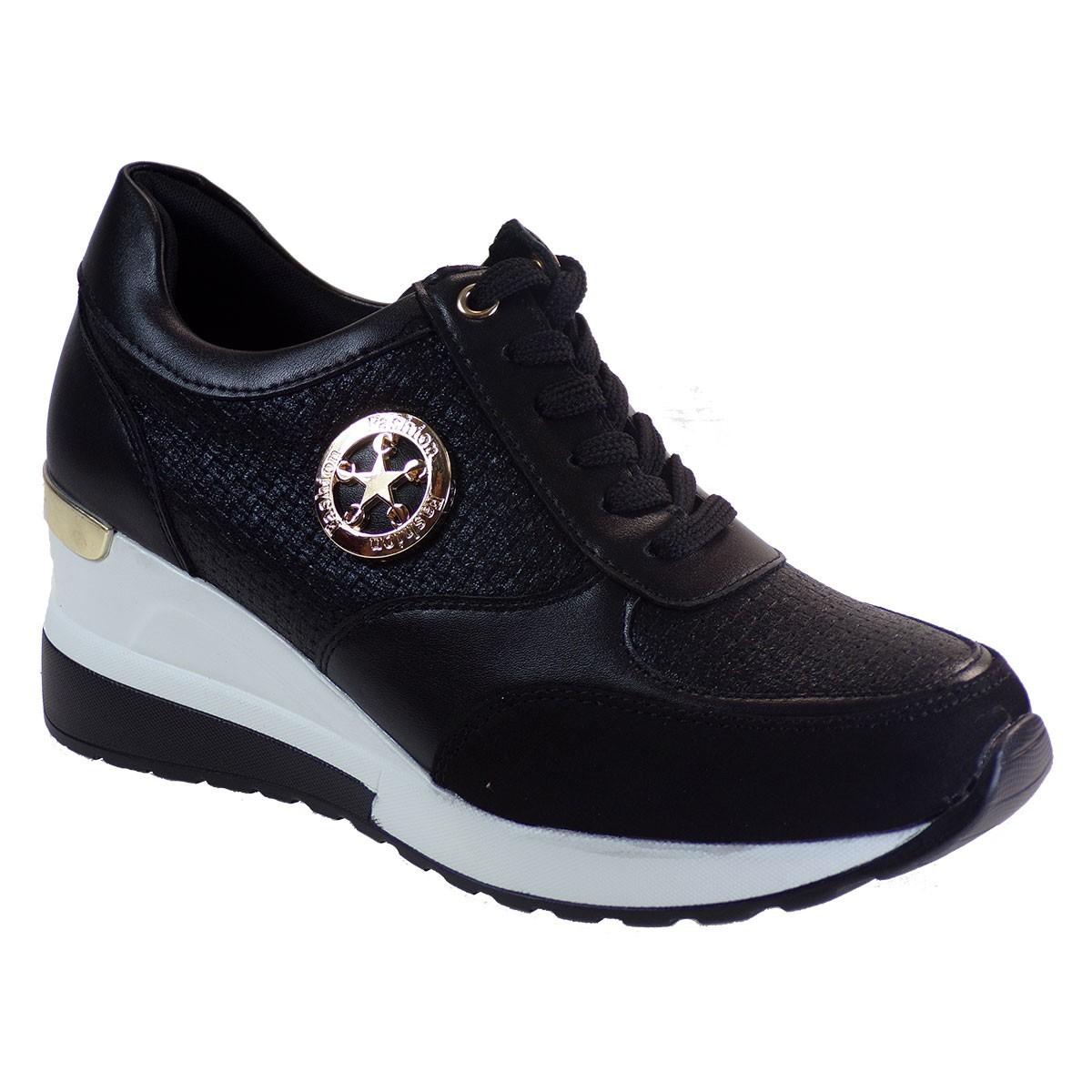 Bagiota Shoes Γυναικεία Παπούτσια Sneakers Αθλητικά Υ9500 Μαύρο