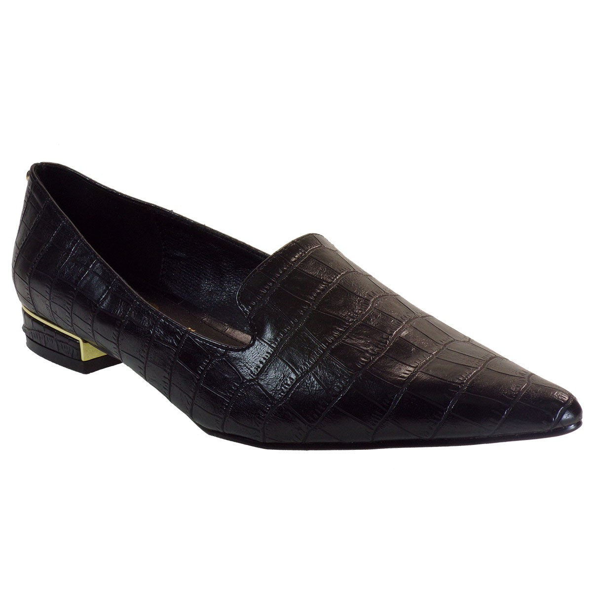 Exe Γυναικεία Παπούτσια LOAFERS 177 VERONA Μαύρο Κροκό L17001771024