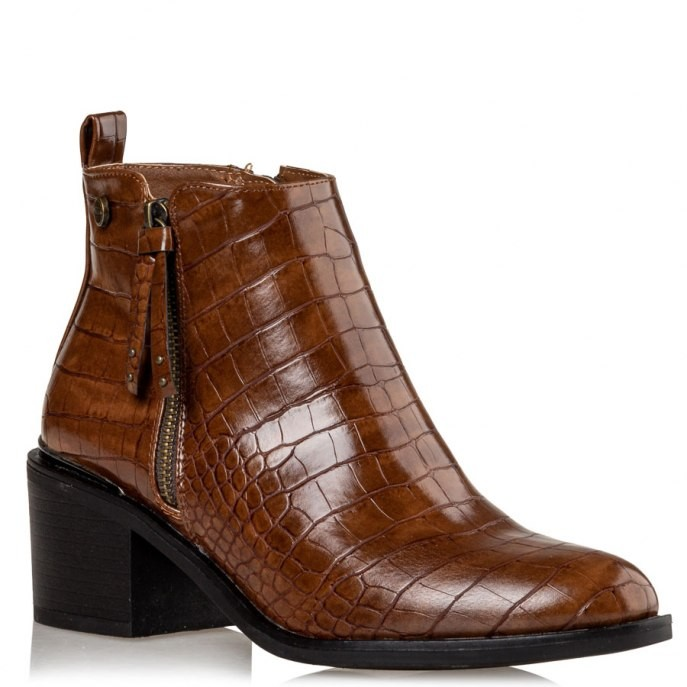 Miss NV Γυναικεία Παπούτσια Μποτάκια V57-12663-26 Κάμελ