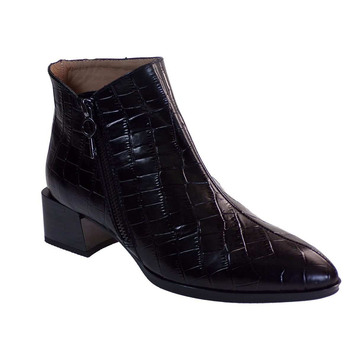 Hispanitas Γυναικεία Παπούτσια Mποτάκια HI00522 Μαύρο Δέρμα