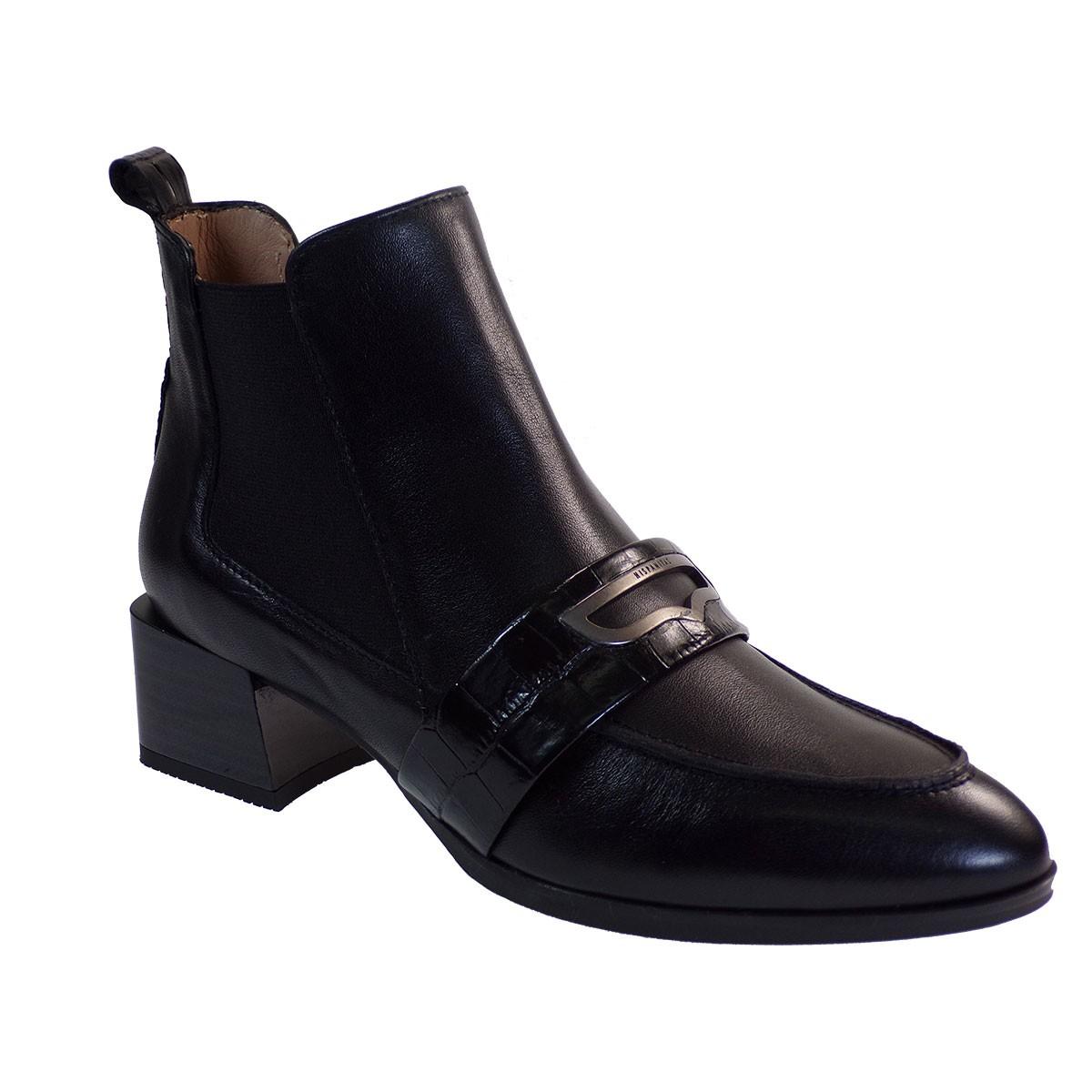 Hispanitas Γυναικεία Παπούτσια Mποτάκια HI00644 Μαύρο Δέρμα