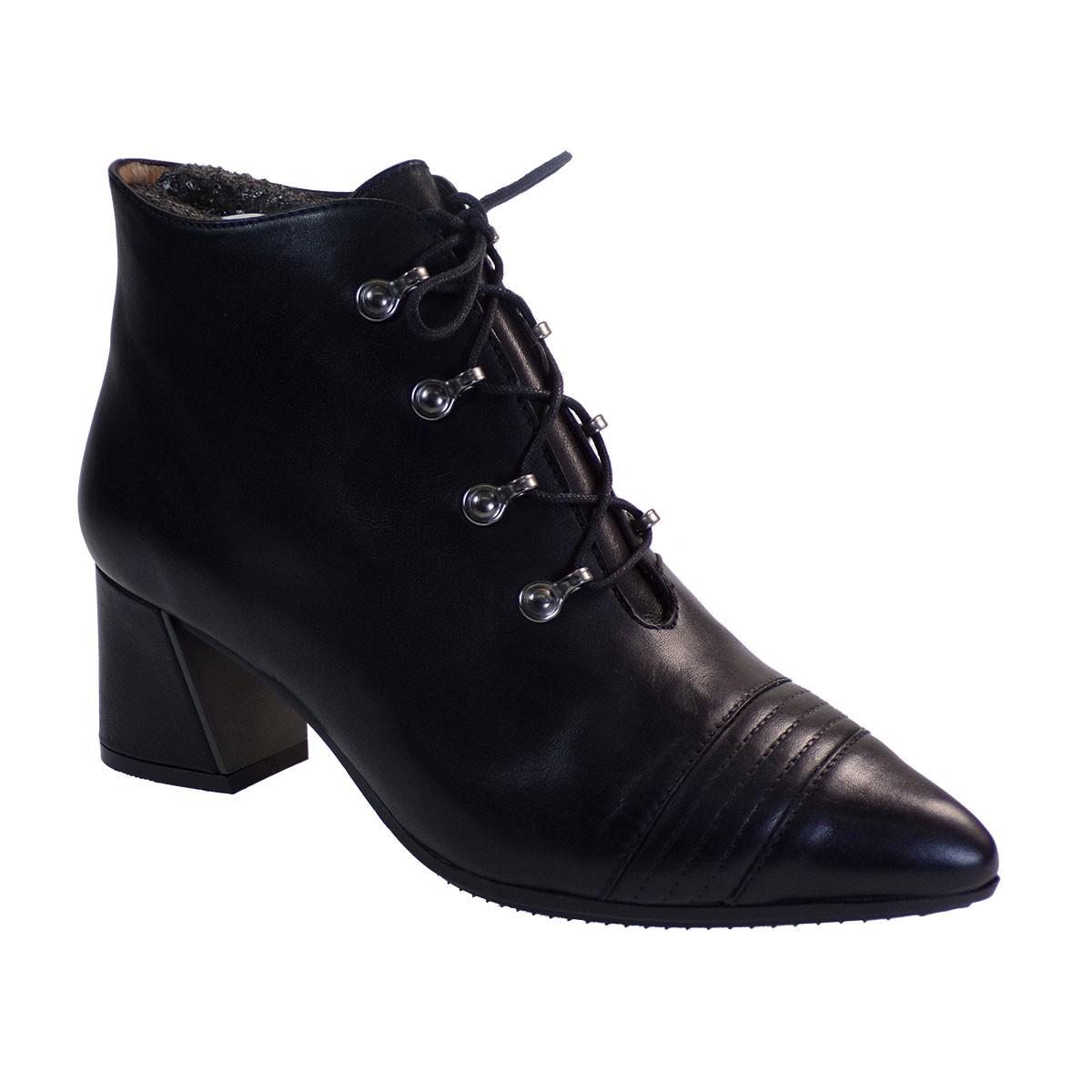 Hispanitas Γυναικεία Παπούτσια Mποτάκια HI00757 Μαύρο Δέρμα